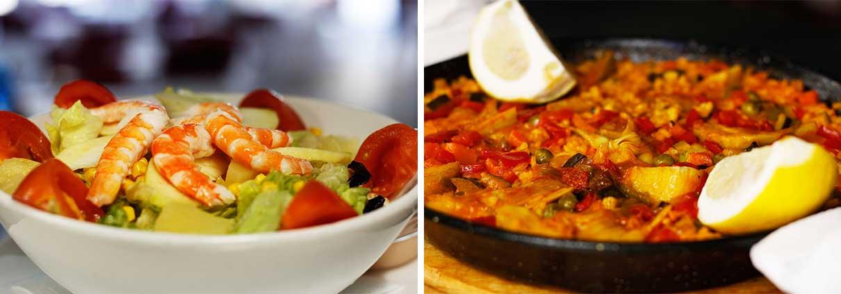 Ensalada y Paella - Restaurante La Palette