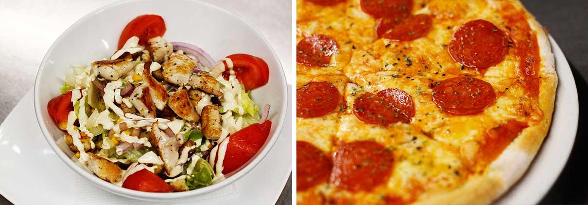 Ensalada y Pizza - Restaurante La Palette